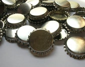 SALE - 100 Bottle Caps, Scratched, bottle caps for bows, hair bow supplies, hairbow supplies, bow making 1 inch bottle cap, silver blank cap