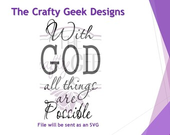 With God All Things Are Possible SVG File
