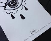 Crying Eye Print - Rachel Welsby