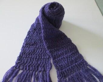 Dark purple cashmere scarf- Lupus, Preemie awareness, Alzheimer's
