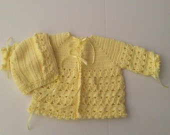 Yellow sweater set size 12-18  month