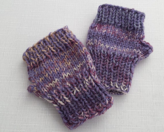Fingerless Gloves Knitting Pattern For Toddlers : Toddlers Hand Knitted Fingerless Gloves Wool Mittens