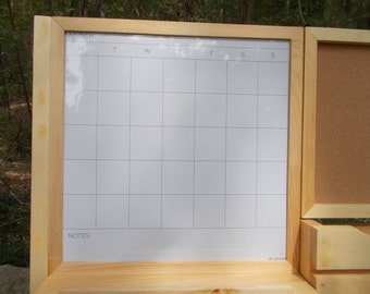 Dry Erase Magnetic Calender/Message center/Corkboard Center/Message Board