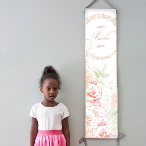 Personalized/ Custom Girls Flower Growth Chart - From little things big things grow