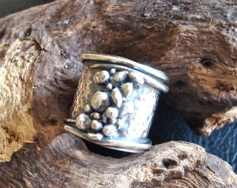 Stones In the River Ring - PMC Ring - Fine Silver - OOAK Ring