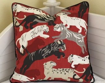 Dwell Studio Rajita Designer Pillow Cover with Piping- Lumbar, Square and Euro Sizes Available