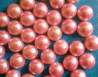 kawaii pink flatback pearl decoden craft deco diy   14 mm   more than 30 pcs---USA seller