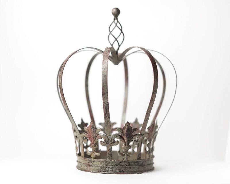 Crown Centerpiece fleur de lis Metal Crown Large wedding