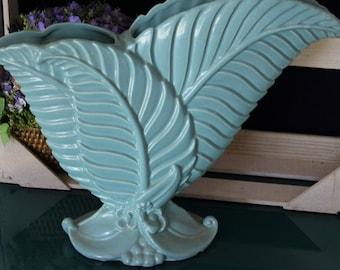 Large Royal Haeger Turquoise Vase