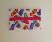 Flip Flops Fabric Tissue Holder