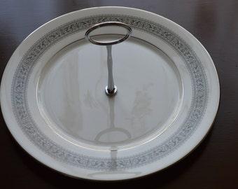 Oxford Filigree Pattern Tidbit Plate-Division of Lenox