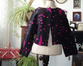 Noble walking jacket PINK DOTS