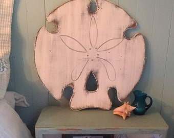 Sand Dollar Sign Extra Large Beach House Decor Wall Art by CastawaysHall