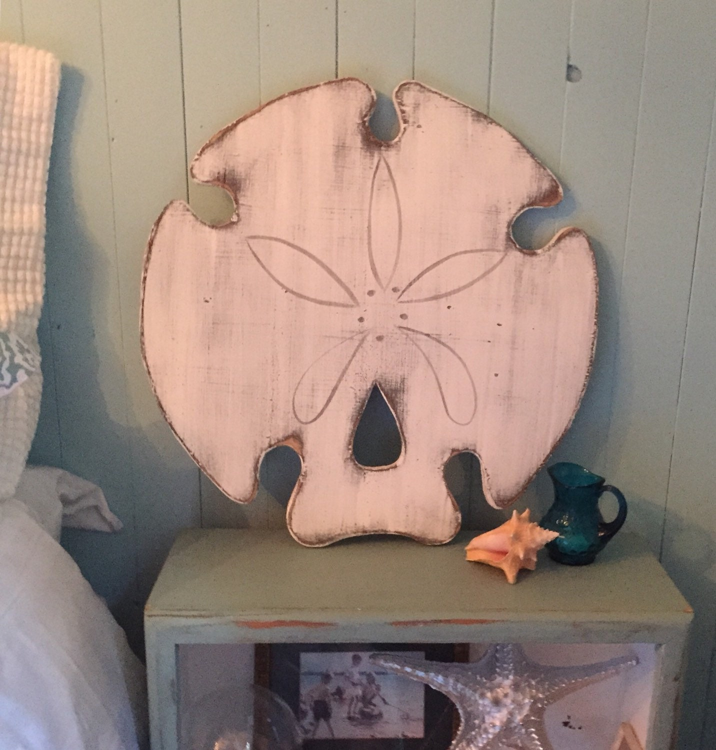 Sand Dollar Sign Extra Large Beach House Decor Wall Art By