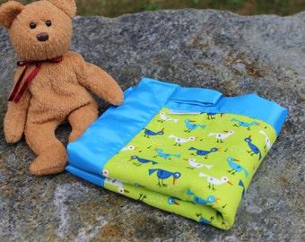 Organic Baby Blanket | Organic Sherpa Blanket | Organic Cotton Security Blanket | Bird Blanket | Baby Lovie