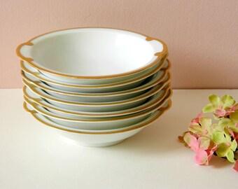 Vintage Tea Party Bowls. Wedding China. Thomas Sevres Bavaria Germany. Bridal Tea Tableware. White and Gold China. Afternoon Tea Luncheon.