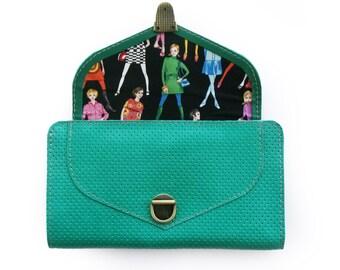 Leather wallet, Turquoise wallet, Women's wallet, Handmade wallet , sale