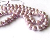 Freshwater Pearls Lavender beads strand