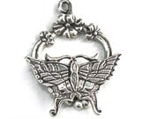 Butterfly Toggle Clasp 32mm Clasmeyer Sterling Silver