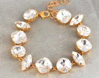 Bridal Swarovski Bracelet,Swarovski Crystal Bracelet,Bridesmaids Gifts,Bridal Bracelet,Wedding jewelry,Swarovski Rhinestone Bracelets