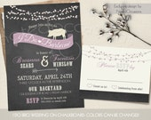 I DO BBQ Wedding Reception Invitations Chalkboard Cookout Invitation Pig Roast Country Western Invites Colors Optional DIY Digital Printable