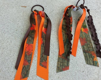 Natural camo streamer ribbons