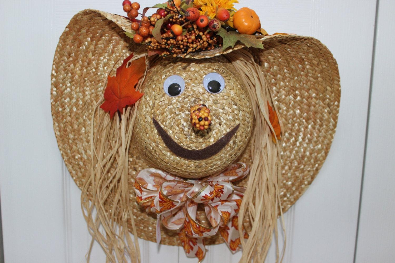 Scarecrow Hat Door Decoration  Scarecrow Hat D...