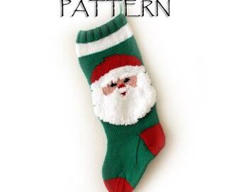Pattern Christmas Santa Stocking PDF