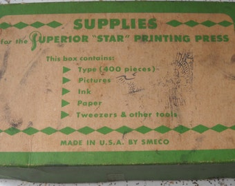 Vintage Superior Star Printing Press 8403 - NOT Complete!