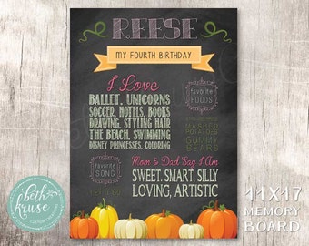 Our Little Pumpkin Printable Memory Chalkboard by Beth Kruse Custom Creations