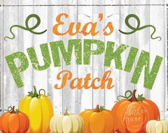 Our Little Pumpkin Printable Custom Backdrop by Beth Kruse Custom Creations