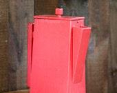 Vintage Wood Soap Flakes Pitcher / Laundry Detergent Box Container / Retro Wooden Dispenser