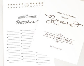 Personalized Wedding Guest Calendar—Perpetual Birthday Calendar to use as a Guestbook Alternative  // THROUGH THE YEARS