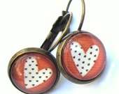 Red Heart Earrings Boho Fashion Jewelry