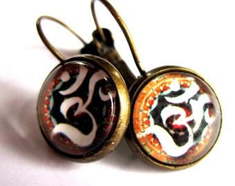 Om Yoga Earrings Boho Fashion Jewelry