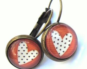 Red Heart Earrings Boho Fashion Jewelry