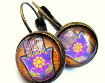 Hamsa Hand Earrings Yoga Fashion Jewelry