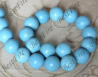 Single big 18 mmTurquoise ROUND stone beads loose beads,turquoise nugget gemstone beads,turquoise beads