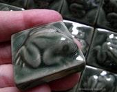 Kodok Frog Green Glazed Ceramic Tile 32mm