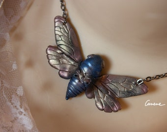 INSECTA-Lepidoptera 1, moth, pendant, hand made