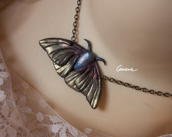 INSECTA-Lepidoptera 2, moth, pendant, hand made