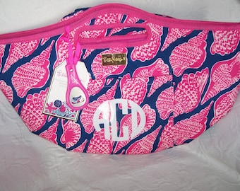 Lilly Pulitzer CUTE AS SHELL Cooler Beverage Bucket Tote