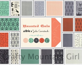 Haunted Gala Fat Quarter Bundle by Eric & Julie Comstock for Moda