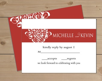 "Deposit for Erica Wedding Response Card (5.5""x4"")"
