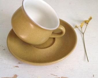Vintage Denby Ode Cup and Saucer - Denby - Denby Ode - Tea Cup and Saucer