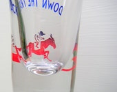 Vintage Shot Glass Horse Racing