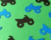 Four Wheeler, ATV 4-Wheeler Quad Confetti, Die Cuts Boys Birthday Party Decor Mudding Party Extreme Sports for Scrapbook Card Making