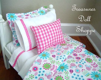 Doll Bedding Set for 18 inch Sized Dolls - Pink Significance