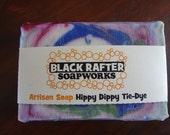 Black Rafter SoapWorks Hippy Dippy Tie Dye Artisan Soap