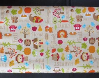 Riley Blake - Happy Harvest Main Brown Fabric